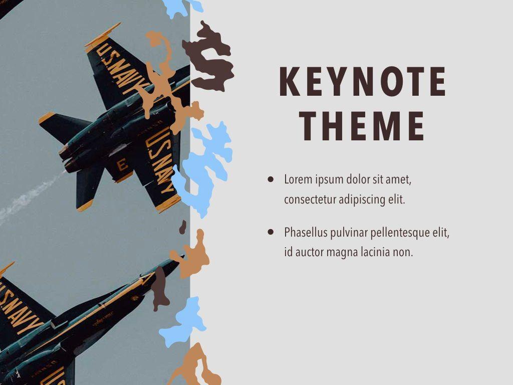 Camouflage Keynote Template, Slide 18, 05026, Presentation Templates — PoweredTemplate.com