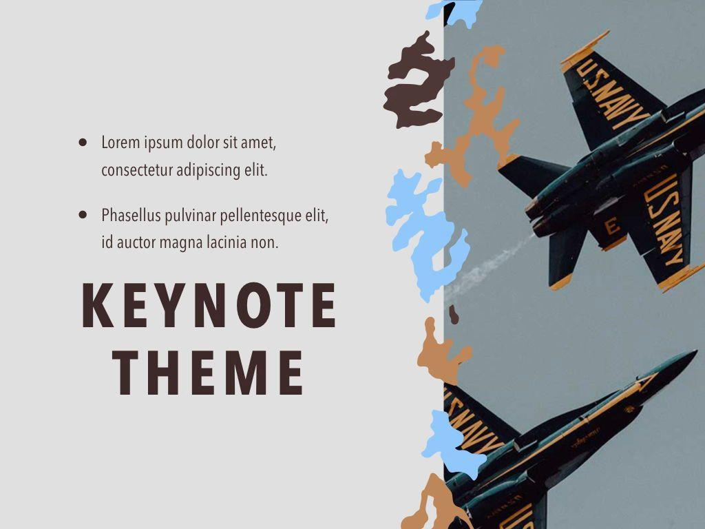 Camouflage Keynote Template, Slide 19, 05026, Presentation Templates — PoweredTemplate.com