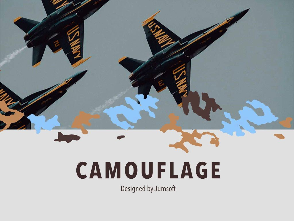 Camouflage Keynote Template, Slide 2, 05026, Presentation Templates — PoweredTemplate.com