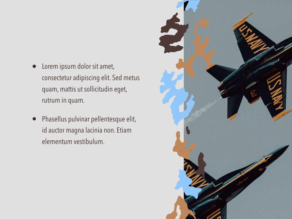 Camouflage Keynote Template, Slide 21, 05026, Presentation Templates — PoweredTemplate.com
