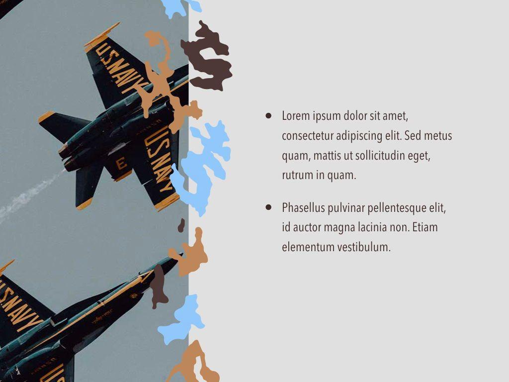 Camouflage Keynote Template, Slide 22, 05026, Presentation Templates — PoweredTemplate.com