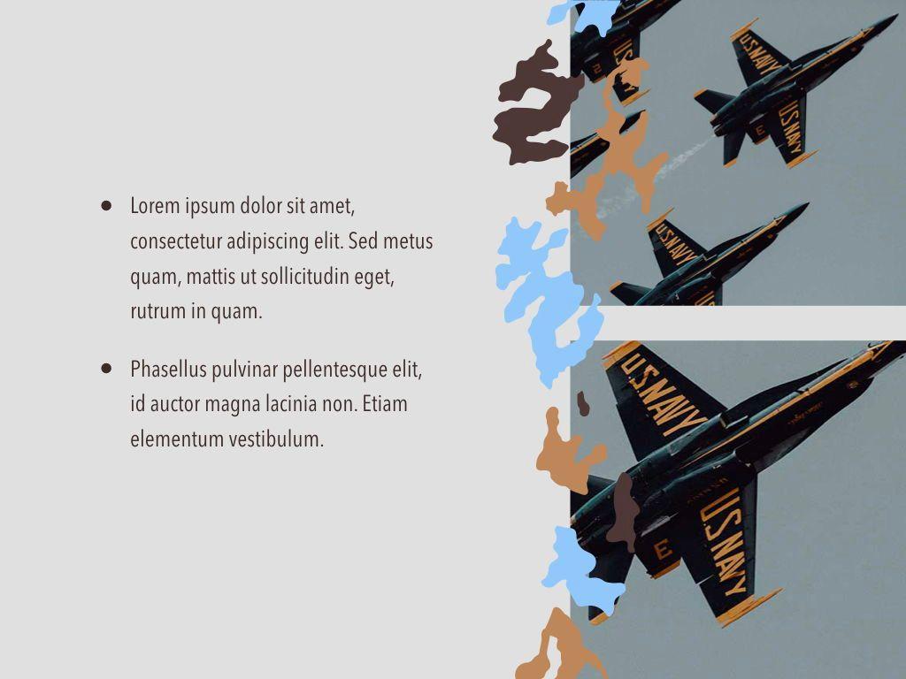 Camouflage Keynote Template, Slide 23, 05026, Presentation Templates — PoweredTemplate.com