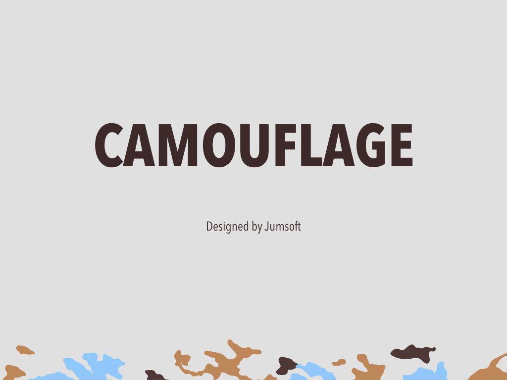 Camouflage Keynote Template, Slide 3, 05026, Presentation Templates — PoweredTemplate.com