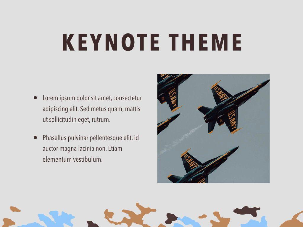 Camouflage Keynote Template, Slide 30, 05026, Presentation Templates — PoweredTemplate.com