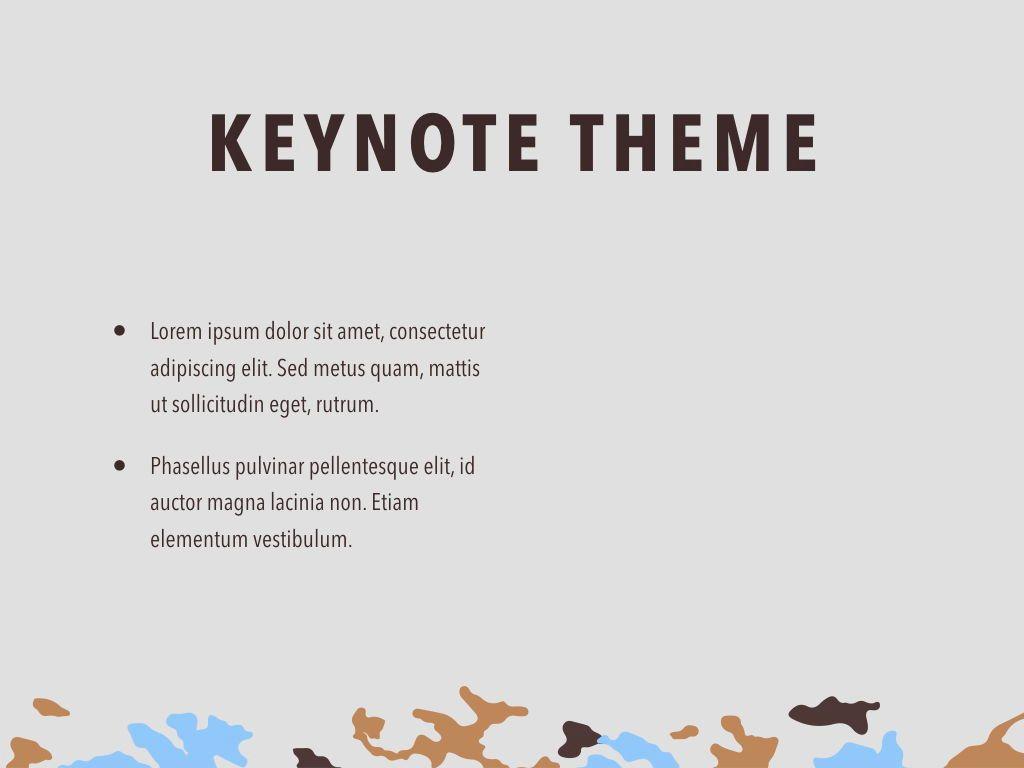 Camouflage Keynote Template, Slide 32, 05026, Presentation Templates — PoweredTemplate.com