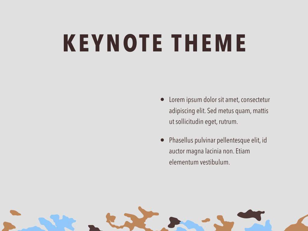 Camouflage Keynote Template, Slide 33, 05026, Presentation Templates — PoweredTemplate.com