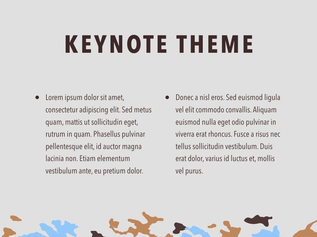 Camouflage Keynote Template, Slide 5, 05026, Presentation Templates — PoweredTemplate.com
