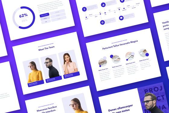 Presentation Templates: Projection PowerPoint Template #05027