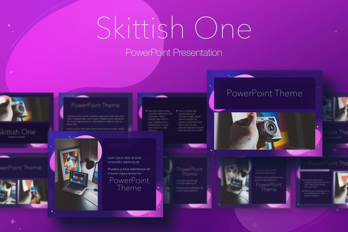 Skittish One PowerPoint Template, 05028, Presentation Templates — PoweredTemplate.com