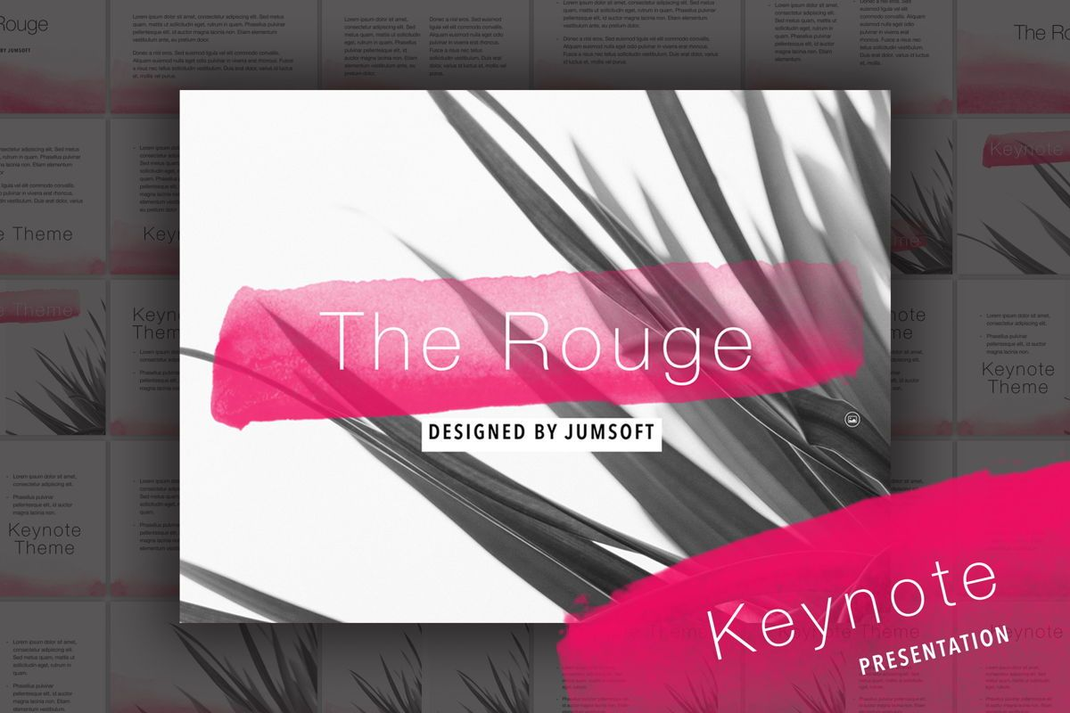 The Rouge Keynote Template, 05030, Presentation Templates — PoweredTemplate.com