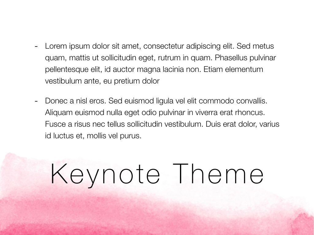 The Rouge Keynote Template, Slide 12, 05030, Presentation Templates — PoweredTemplate.com