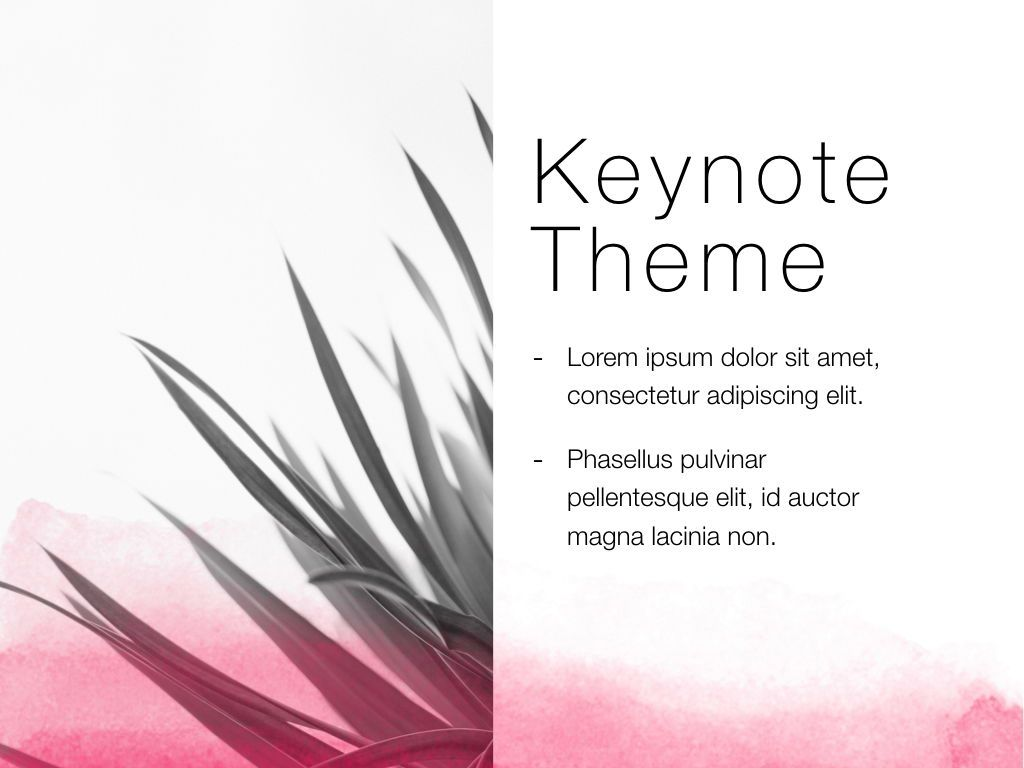 The Rouge Keynote Template, Slide 18, 05030, Presentation Templates — PoweredTemplate.com