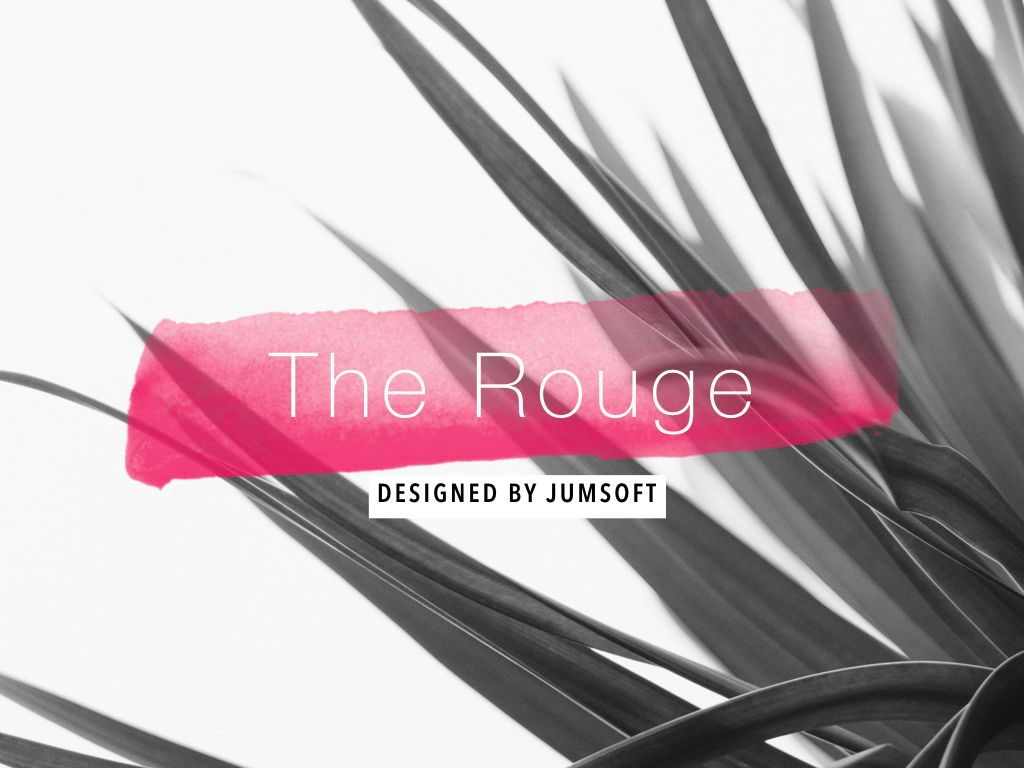The Rouge Keynote Template, Slide 2, 05030, Presentation Templates — PoweredTemplate.com