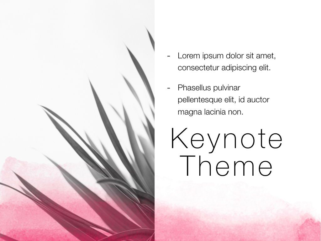 The Rouge Keynote Template, Slide 20, 05030, Presentation Templates — PoweredTemplate.com