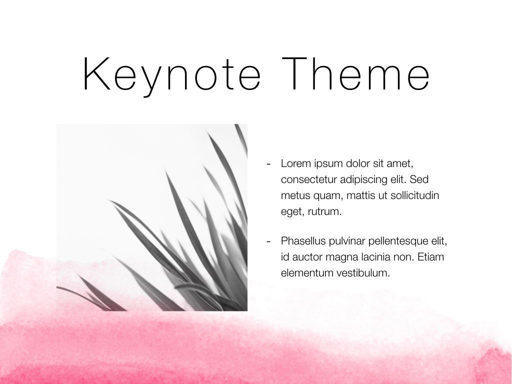 The Rouge Keynote Template, Slide 31, 05030, Presentation Templates — PoweredTemplate.com