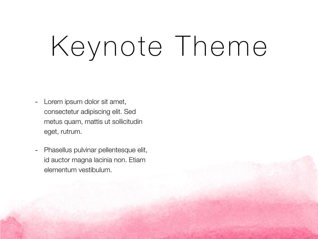 The Rouge Keynote Template, Slide 32, 05030, Presentation Templates — PoweredTemplate.com