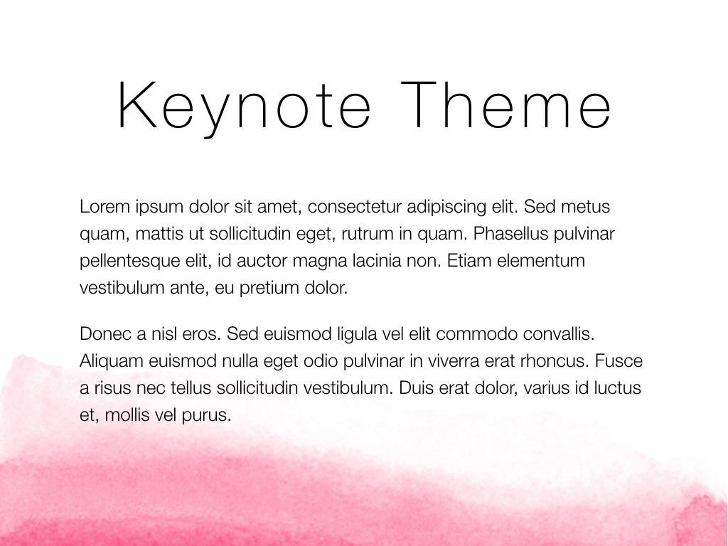 The Rouge Keynote Template, Slide 4, 05030, Presentation Templates — PoweredTemplate.com