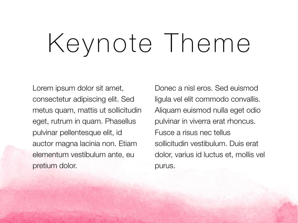 The Rouge Keynote Template, Slide 5, 05030, Presentation Templates — PoweredTemplate.com