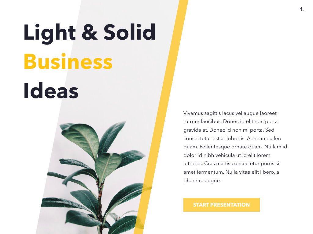 Light Solid Keynote Template, Slide 2, 05031, Presentation Templates — PoweredTemplate.com