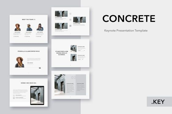 Presentation Templates: Concrete Keynote Template #05032