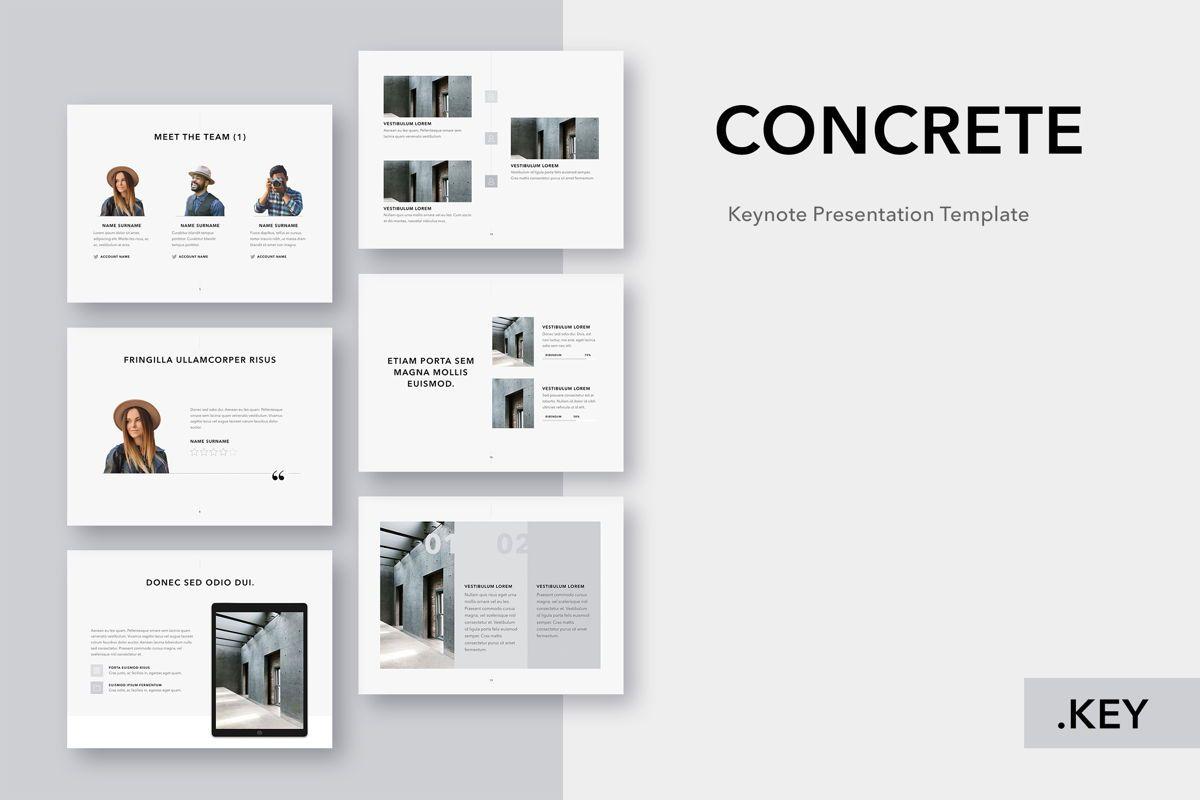 Concrete Keynote Template, 05032, Presentation Templates — PoweredTemplate.com