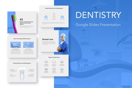 Presentation Templates: Dentistry Google Slides Template #05034