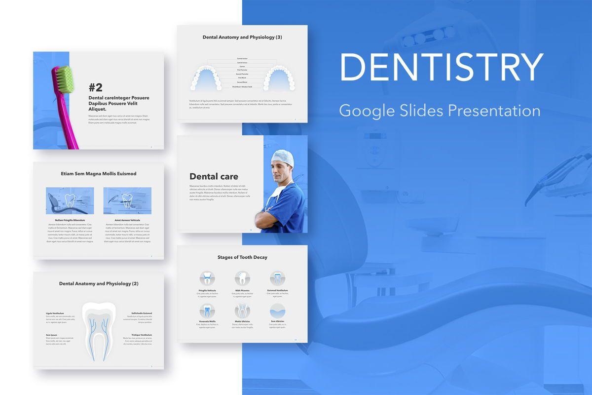 Dentistry Google Slides Template, 05034, Presentation Templates — PoweredTemplate.com