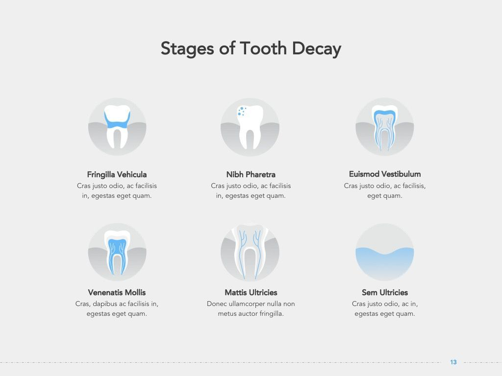 Dentistry Google Slides Template, Slide 14, 05034, Presentation Templates — PoweredTemplate.com