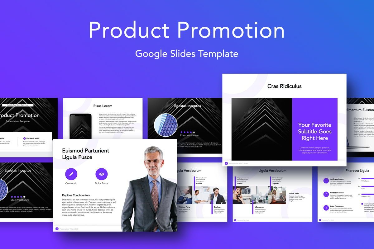 Product Promotion Google Slides Template, 05036, Presentation Templates — PoweredTemplate.com