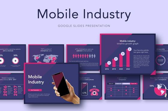 Presentation Templates: Mobile Industry Google Slides Template #05037