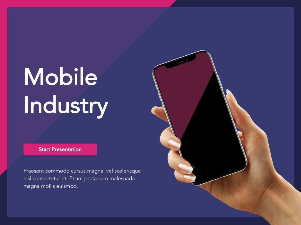 Mobile Industry Google Slides Template, Slide 2, 05037, Presentation Templates — PoweredTemplate.com