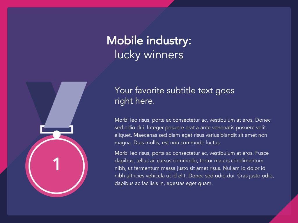 Mobile Industry Google Slides Template, Slide 5, 05037, Presentation Templates — PoweredTemplate.com