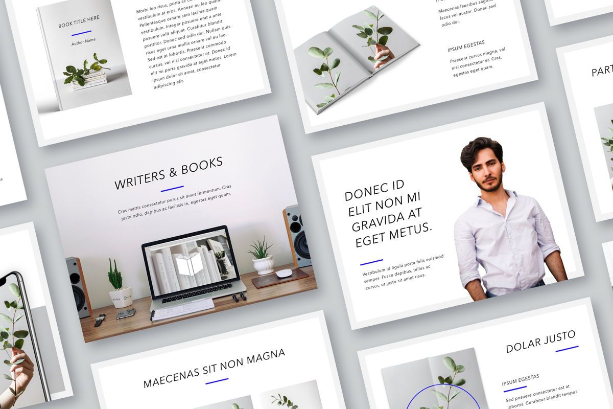 Printed Word Keynote Template, 05039, Education Charts and Diagrams — PoweredTemplate.com
