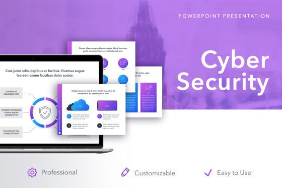 Presentation Templates: Cyber Security PowerPoint Template #05040