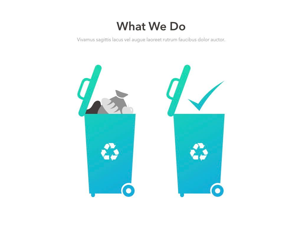 Valet Trash Service PowerPoint Template, Slide 7, 05042, Education Charts and Diagrams — PoweredTemplate.com