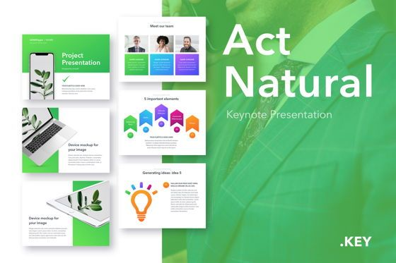 Presentation Templates: Act Natural Keynote Template #05043