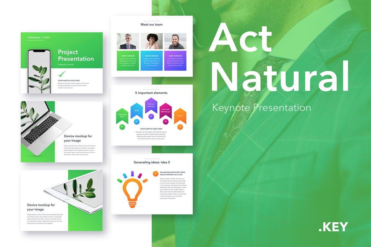 Act Natural Keynote Template, 05043, Presentation Templates — PoweredTemplate.com