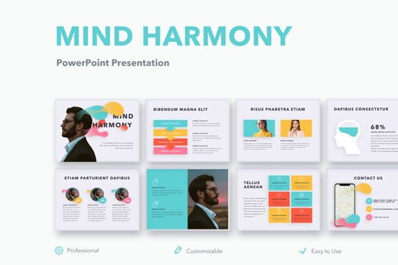 Presentation Templates: Mind Harmony PowerPoint Template #05044