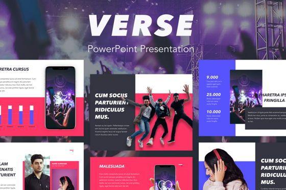 Presentation Templates: Verse PowerPoint Template #05048