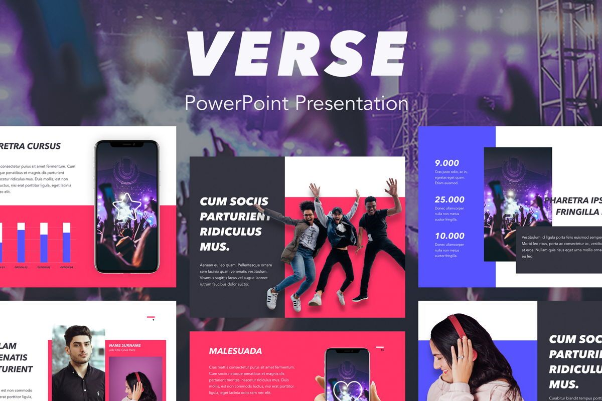 Verse PowerPoint Template, 05048, Presentation Templates — PoweredTemplate.com