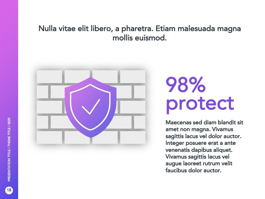 Cyber Security Google Slides Template, Slide 19, 05050, Presentation Templates — PoweredTemplate.com