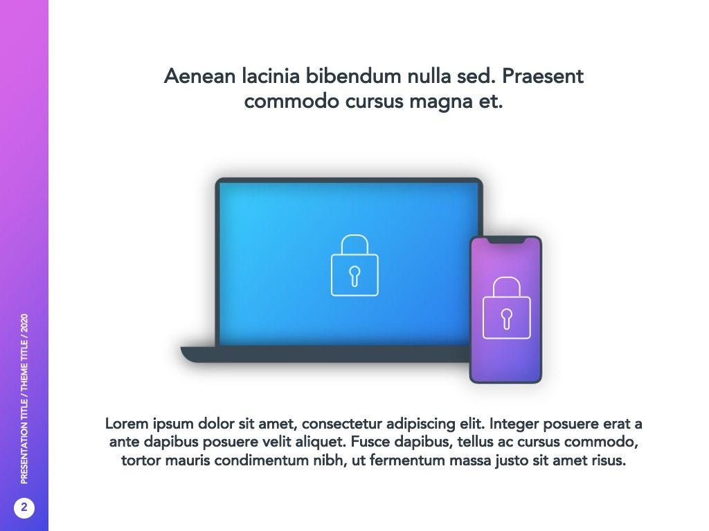 Cyber Security Google Slides Template, Slide 3, 05050, Presentation Templates — PoweredTemplate.com