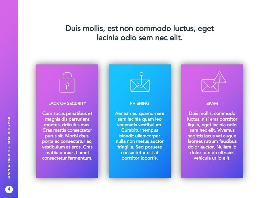 Cyber Security Google Slides Template, Slide 5, 05050, Presentation Templates — PoweredTemplate.com