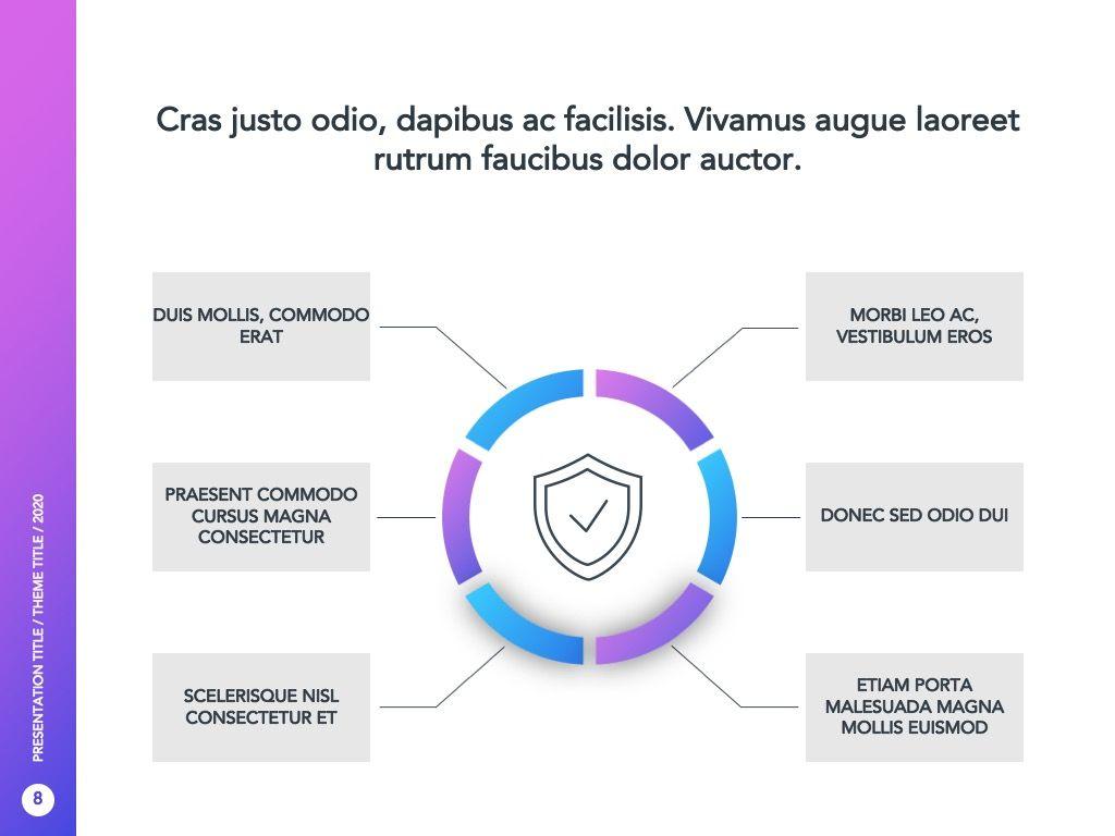 Cyber Security Google Slides Template, Slide 9, 05050, Presentation Templates — PoweredTemplate.com