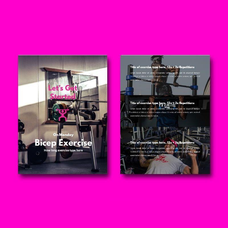 Fitness Girl eBook PowerPoint Presentation Template, Slide 4, 05055, Presentation Templates — PoweredTemplate.com
