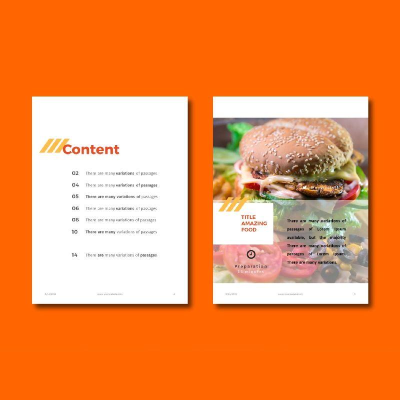 Recipe Book PowerPoint Presentation Template, Slide 3, 05056, Presentation Templates — PoweredTemplate.com