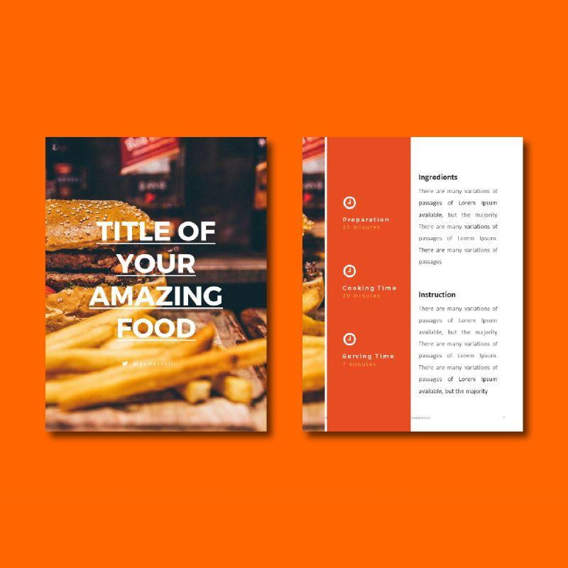 Recipe Book PowerPoint Presentation Template, Slide 4, 05056, Presentation Templates — PoweredTemplate.com