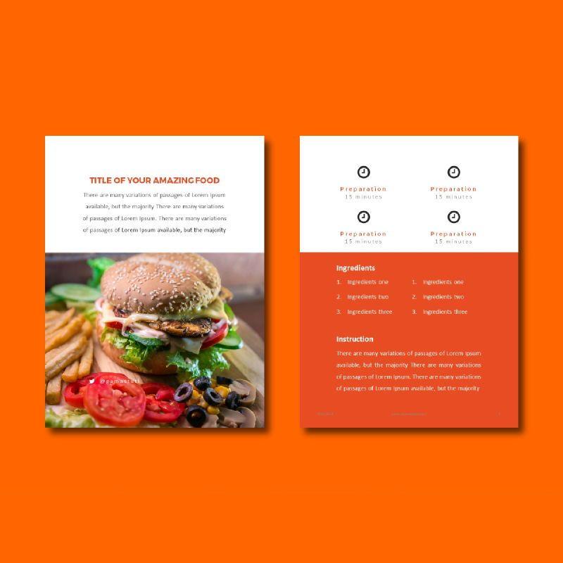 Recipe Book PowerPoint Presentation Template, Slide 5, 05056, Presentation Templates — PoweredTemplate.com