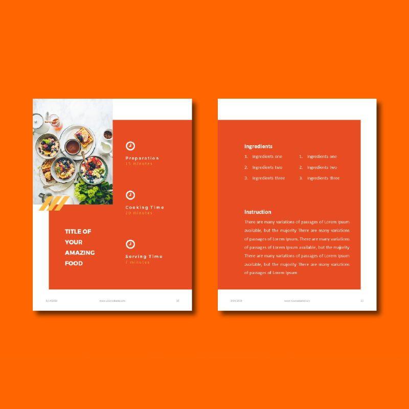 Recipe Book PowerPoint Presentation Template, Slide 6, 05056, Presentation Templates — PoweredTemplate.com