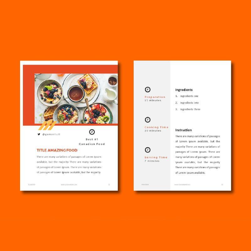 Recipe Book PowerPoint Presentation Template, Slide 7, 05056, Presentation Templates — PoweredTemplate.com